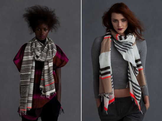 models always look really funny to me.  anyway, i love these scarves!