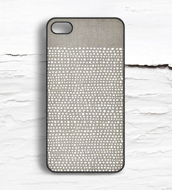 iPhone White Dot Case//