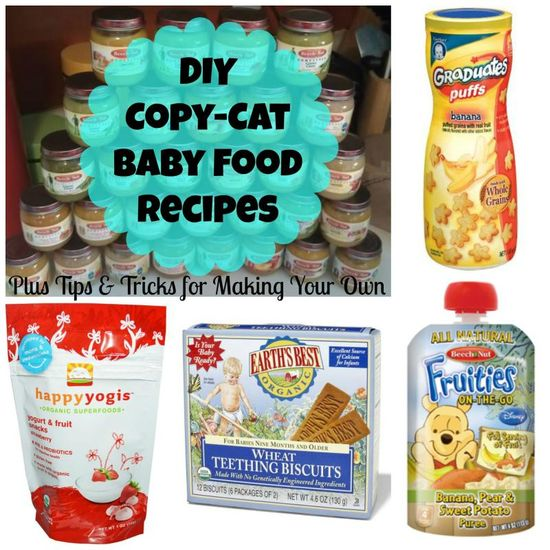 DIY Copy-Cat Baby Food Recipes. My best friend will be happy I found this (: