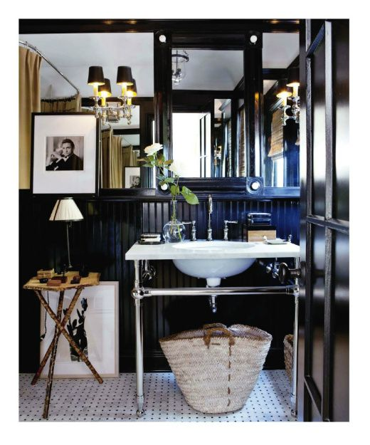 Beautiful black bathroom.