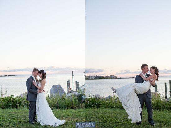 Beautiful beach wedding!   {Chrissy Vensel Photography - Connecticut Wedding Photographer}