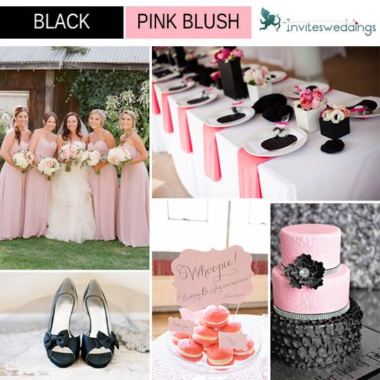 black and blush wedding ideas