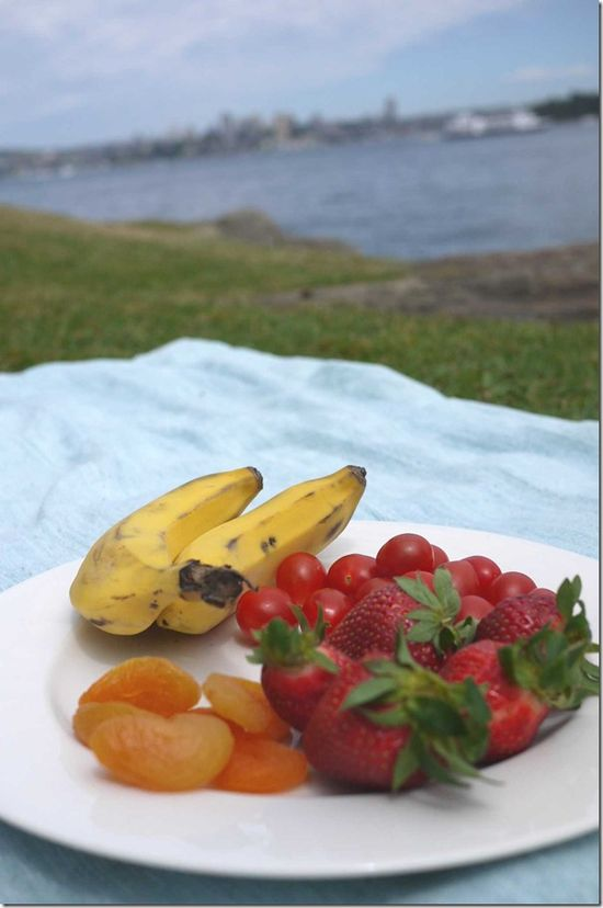 Fresh fruit by Sydney harbour