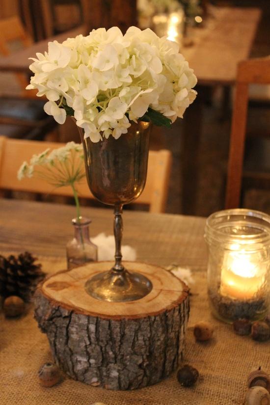 Southern Vintage wedding rentals- rustic wedding- brass goblets