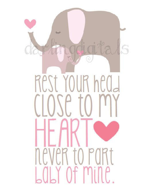 INSTANT DOWNLOAD  Elephant Baby of Mine Nursery by DarlingDigitals, $5.00