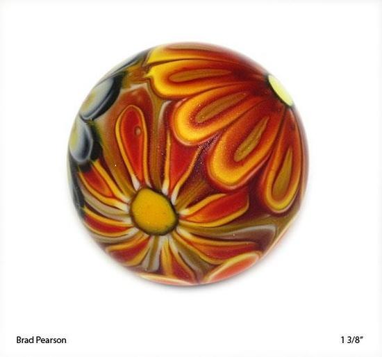 Flower power handmade marble by Brad Pearson .