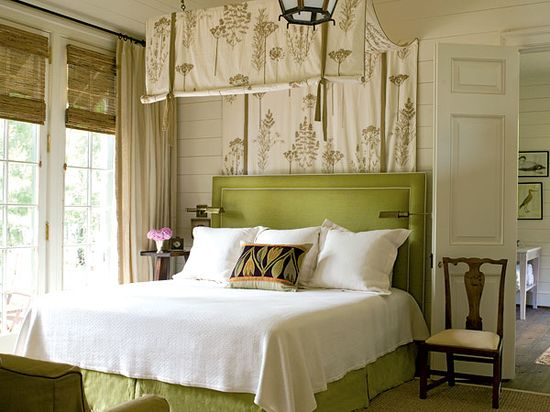 Master Bedroom Idea.  Green and neutral.