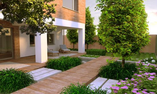 Contemporary Garden Design Idea