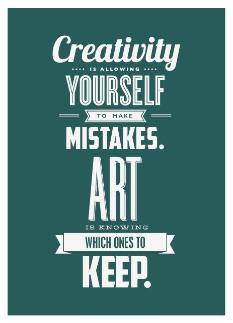 Creativity & Art  Typographic Letterpress Postcard #graphic #design #typography #fonts #letterpress