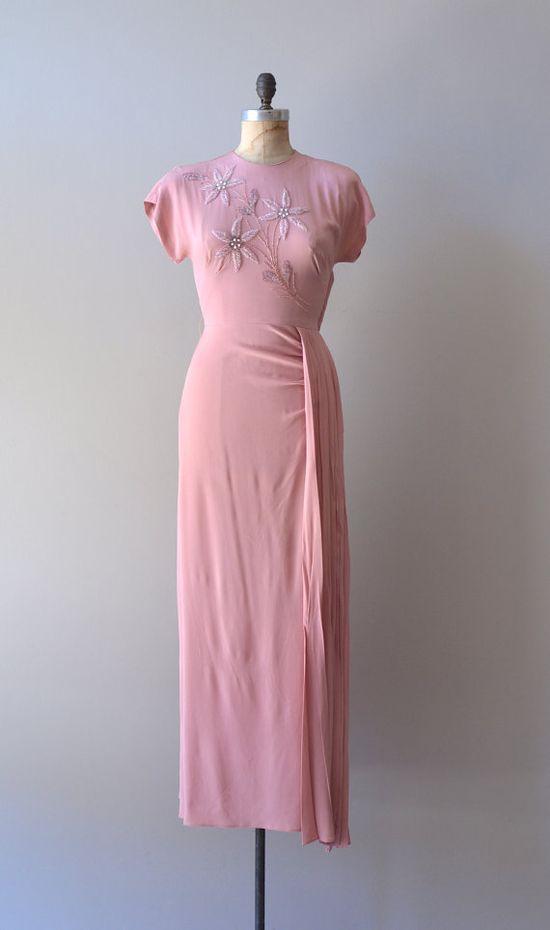 rayon 1940s dress / vintage 40s dress / Prima di by DearGolden