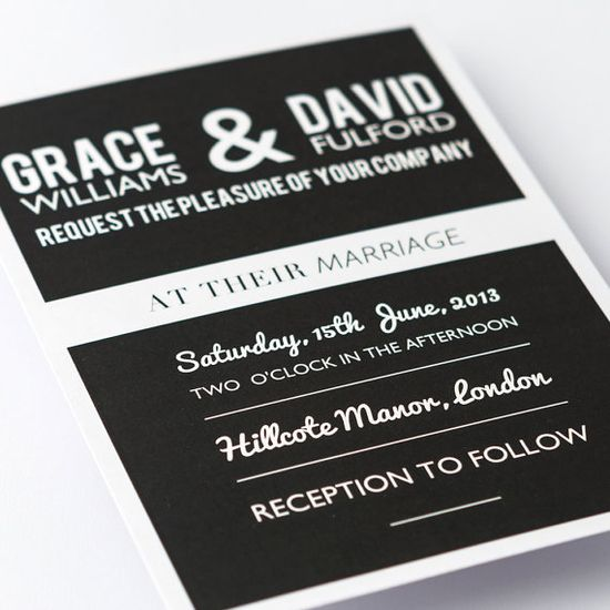 Black & White Wedding Invitations