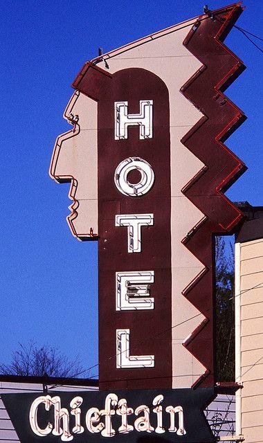 Hotel Chieftain ~ Retro Neon Sign