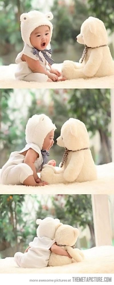 a babys first best friend :D so cute