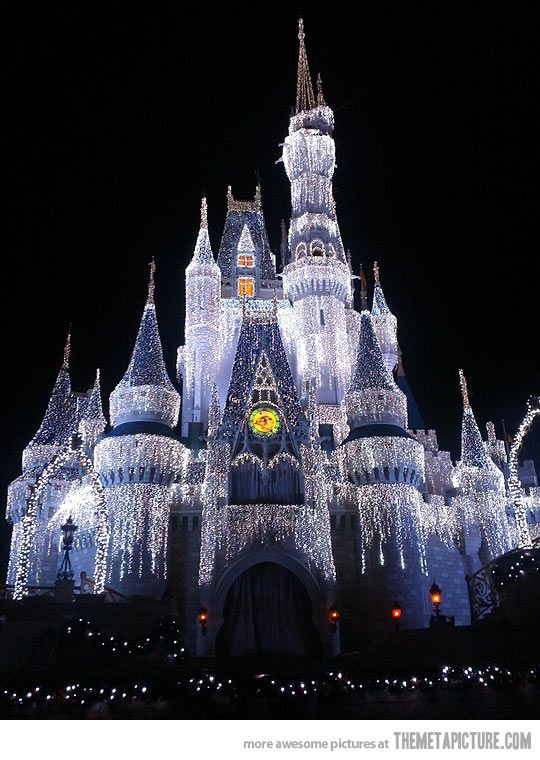 What the Disney Castle looks like during Christmas season…