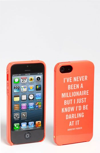 haha, this is funny.  kate spade new york 'millionaire quote' iPhone 5 case available at #Nordstrom