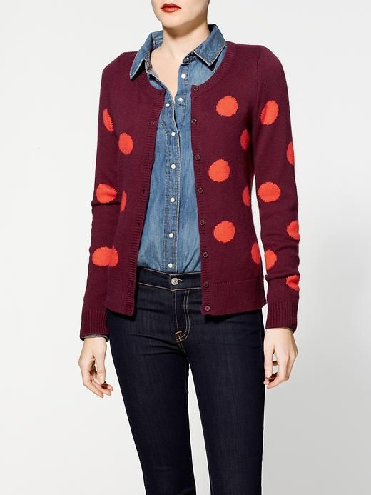 polka dots and chambray