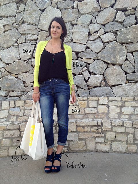 Bright Cardigan & Jeans- Kendi Everyday