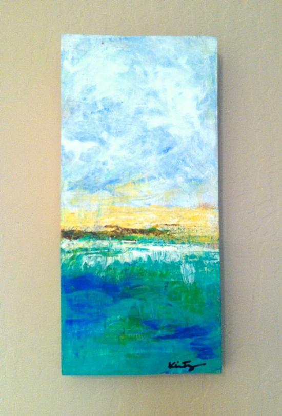 Beach // Abstract Landscape Series  Original by CreativeStash, $55.00    ...BTW,Please Check this out:  artcaffeine.imobi...