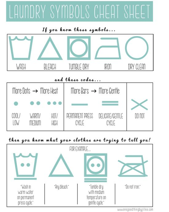 Laundry Symbols Cheat Sheet! (Free Printable)