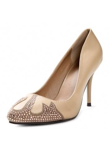 Elegant Champagne Diamante Fashion Shoes