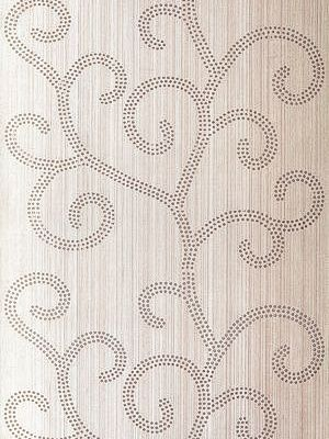 Schumacher Wallpaper Raindrop Scroll-Amethyst $102.99 price per yard #interiors #decor #white #BCA