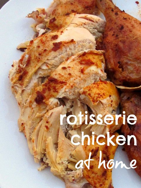 Rotisserie Chicken at Home Recipe ~ Says: The house smells amazing when we get home and the chicken literally falls apart coming out of the crockpot