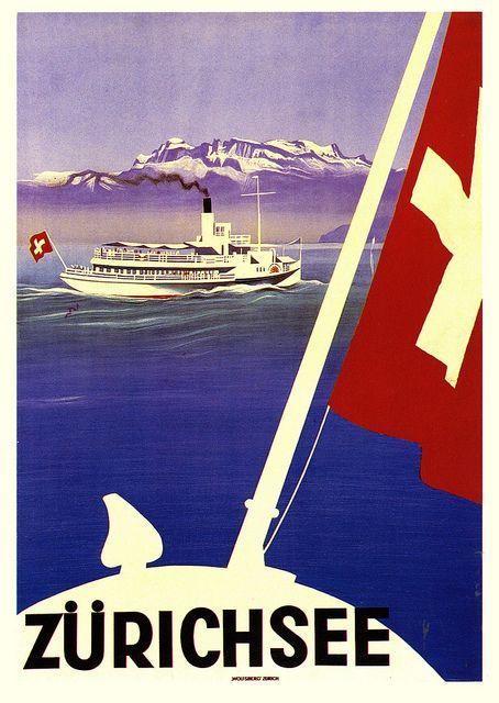 Vintage Travel Poster - Switzerland   via paul.malon