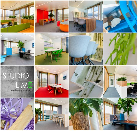 collage Wipro office design