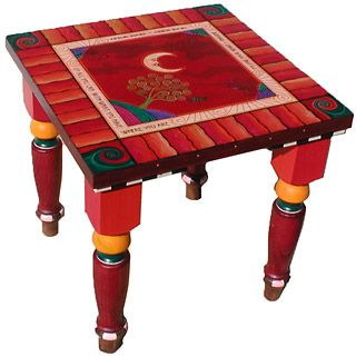 Square Table, Artist Painted