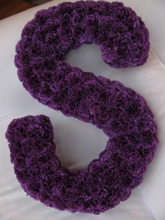 purple flower monogram