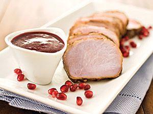 30-Minute Pork Tenderloin with Pomegranate Pan Sauce