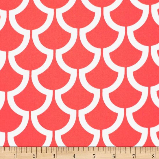 Michael Miller Bekko Home Decor Billow Coral - Discount Designer Fabric - Fabric.com