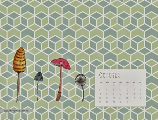 Freebies: Desktop Calendar from Studio of Mae!