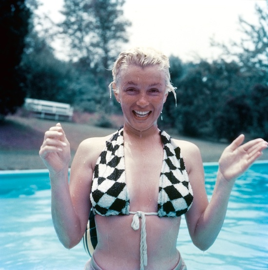 Marilyn Monroe without makeup by Milton Greene.