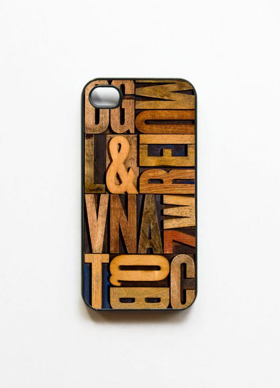 iPhone 4 Case - Letterpress   by On Your Case (Etsy)