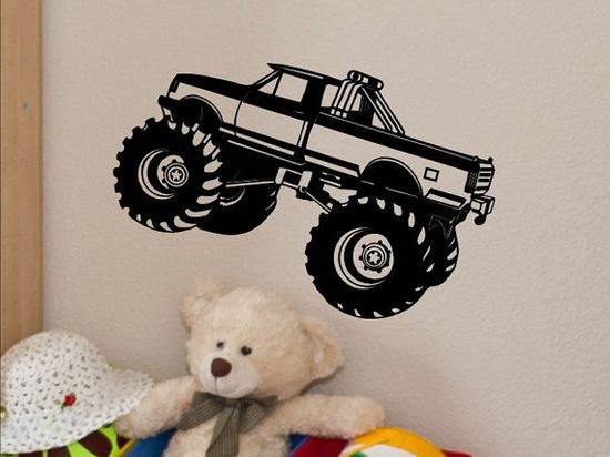 Monster Truck Wall Decal  Kids Bedroom Wall Decor by vgwalldecals, $12.00
