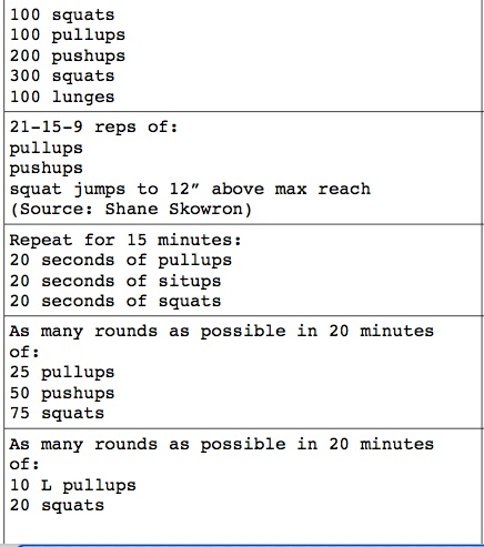 #Crossfit Workouts