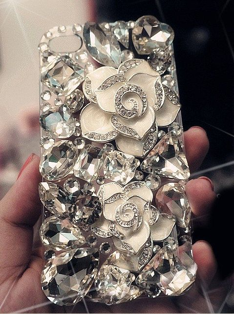 The Stone Flower iPhone 4 case iPhone 5 case iPhone 5 cover iphone 4s case bling bling iphone case,iphone cover. $19.99, via Etsy.