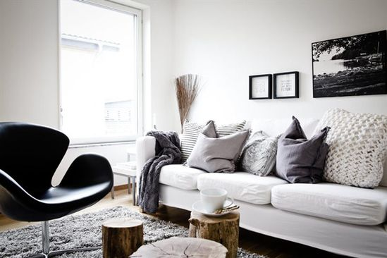 Modern Swedish Apartment with lots of DIY Wood Accent Ideas