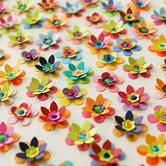 25 Handmade Paper FLOWERS - Mix & Match.