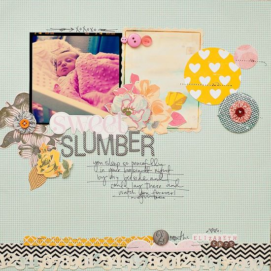 another adorable scrapbook layout