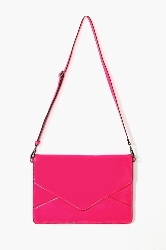 Electrify Envelope Clutch in Pink