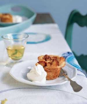 Store-bought frozen puff pastry makes these individual fruit tarts a breeze. Get the recipe for Roasted Apple and Walnut Tarts.