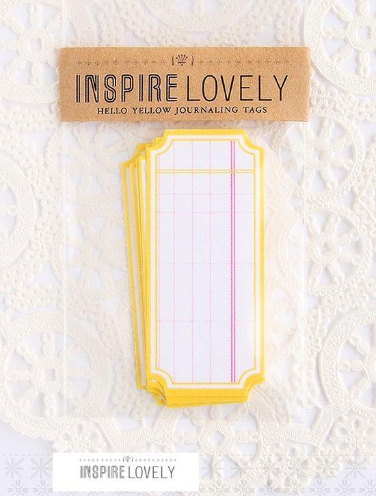 super cute little journal tags