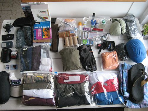 Travel Packing Tips:  Use plastic storage bags for undies, bras, slips, socks, scarves, etc.