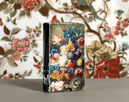 cover books with floral wrap