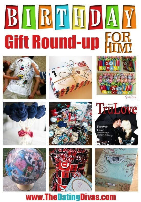 A whole round-up of fabulous #DIY gift ideas for the hubby or boyfriend. www.TheDatingDiva... #birthday #giftidea