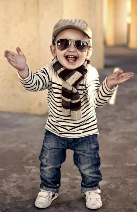 Baby Boy Hipster - Stripes & Denim