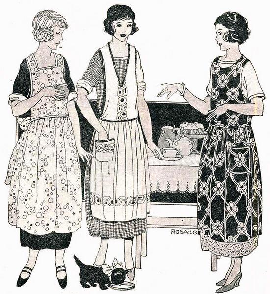 vintage aprons-