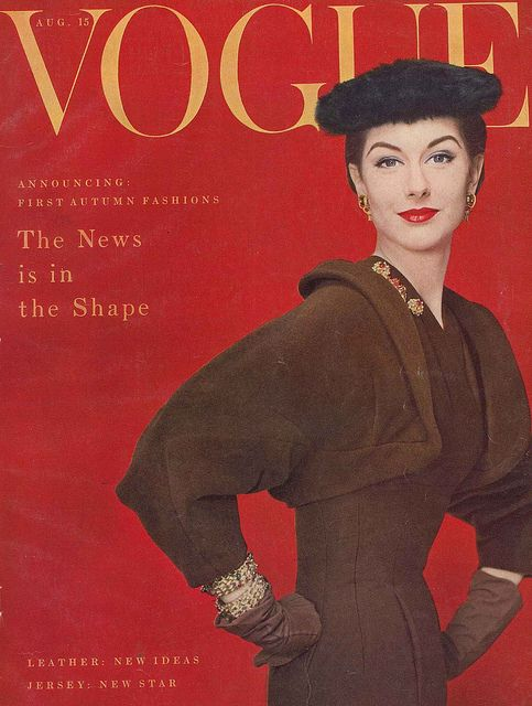The news is in the shape. #Vogue #vintage #fashion #1950s